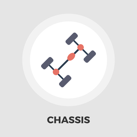 chassis: Chassis car icon vector. Flat icon isolated on the white background. Editable EPS file. Vector illustration.