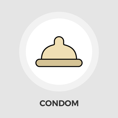 red condom: Condom icon vector. Flat icon isolated on the white background. Editable EPS file. Vector illustration.
