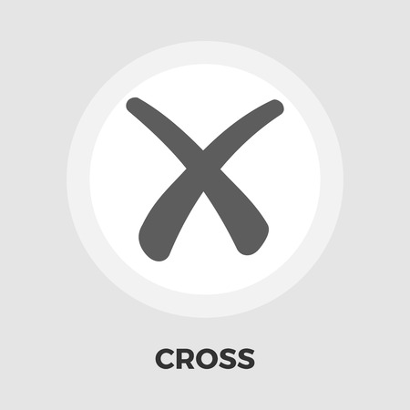 net bar: Cross icon vector. Flat icon isolated on the white background. Editable EPS file. Vector illustration.