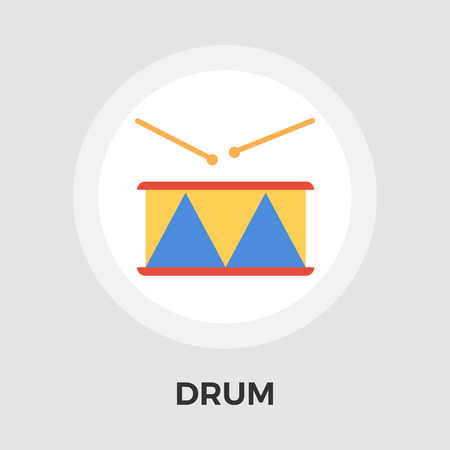 drumming: Drum icon vector. Flat icon isolated on the white background. Editable EPS file. Vector illustration. Illustration