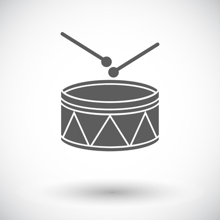 drumming: Drum icon. Flat vector related icon for web and mobile applications. It can be used as -   pictogram, icon, infographic element. Vector Illustration. Illustration