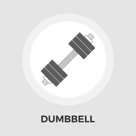 gymnasium: Dumbbell icon vector. Flat icon isolated on the white background. Editable EPS file. Vector illustration.