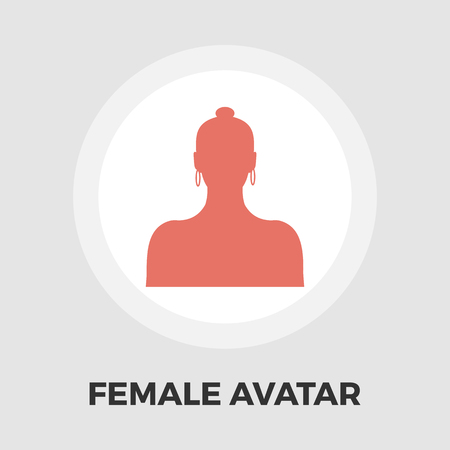 unrecognizable: Female avatar icon vector. Flat icon isolated on the white background. Editable EPS file. Vector illustration. Illustration
