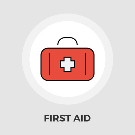 preparation: First aid icon vector. Flat icon isolated on the white background. Editable EPS file. Vector illustration.