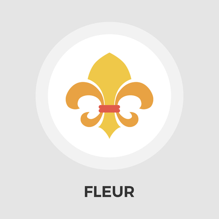 lys: Fleur icon vector. Flat icon isolated on the white background. Editable EPS file. Vector illustration.