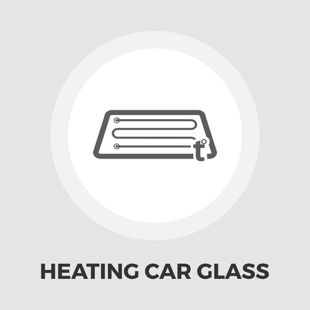 spare part: Heating automotive glass icon vector. Flat icon isolated on the white background. Editable EPS file. Vector illustration. Illustration