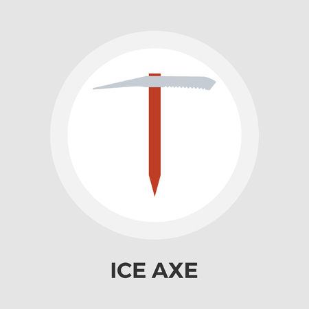 ice axe: Ice axe icon vector. Flat icon isolated on the white background. Editable EPS file. Vector illustration.