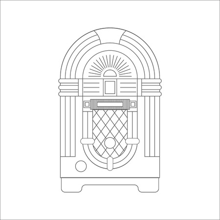 music machine: Jukebox icon vector. Flat icon isolated on the white background. Editable EPS file. Vector illustration.