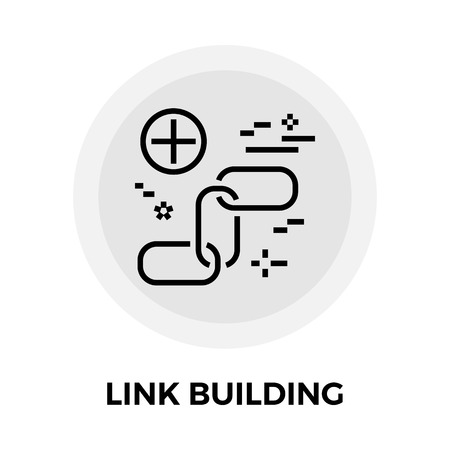 chainlink: Link Building icon vector. Flat icon isolated on the white background. Editable EPS file. Vector illustration. Illustration