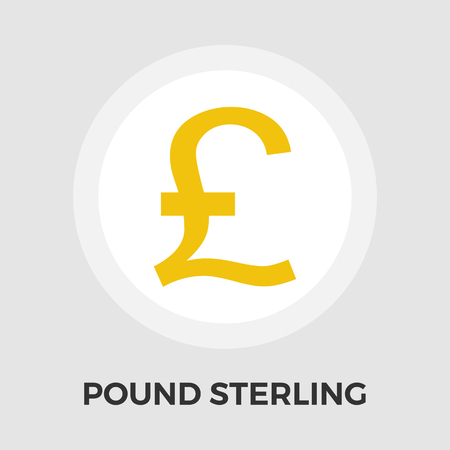 british money: Pound sterling icon vector. Flat icon isolated on the white background. Editable EPS file. Vector illustration. Illustration