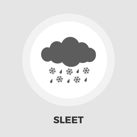 hailstorm: Sleet icon vector. Flat icon isolated on the white background. Editable EPS file. Vector illustration. Illustration
