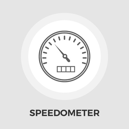 speedmeter: Speedometer icon vector. Flat icon isolated on the white background. Editable EPS file. Vector illustration.
