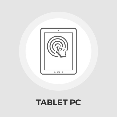 personal data assistant: Tablet PC icon vector. Flat icon isolated on the white background. Editable EPS file. Vector illustration.