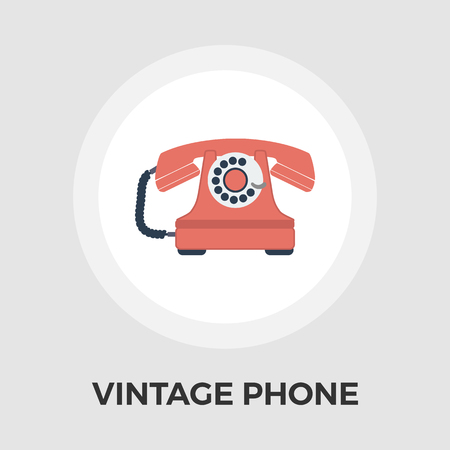 vintage phone: Vintage phone icon vector. Flat icon isolated on the white background. Editable EPS file. Vector illustration.