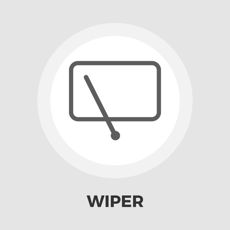 wiper: Car wiper icon vector. Flat icon isolated on the white background. Editable EPS file. Vector illustration.