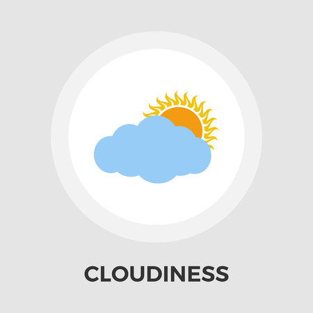 cloudiness: Cloudiness icon vector. Flat icon isolated on the white background.