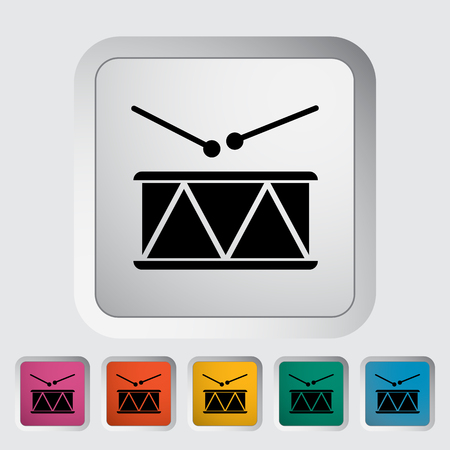 drumming: Drum icon. Flat vector related icon for web and mobile applications.