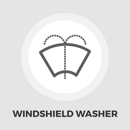 windshield wiper: Windsield washer icon vector. Flat icon isolated on the white background. Editable EPS file. Vector illustration.