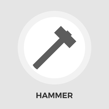 disruption: Hammer Icon Vector. Flat icon isolated on the white background. Editable EPS file. Vector illustration.