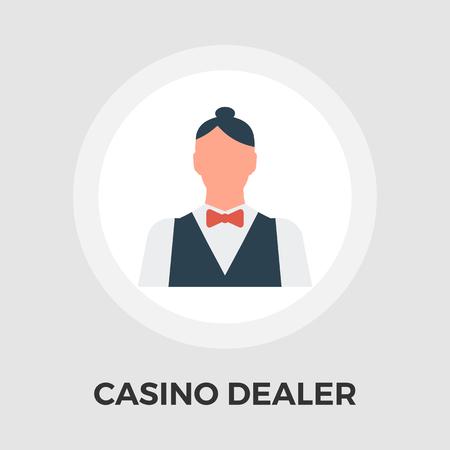 casino dealer: Casino Dealer Icon Vector. Flat icon isolated on the white background. Editable EPS file. Vector illustration. Illustration