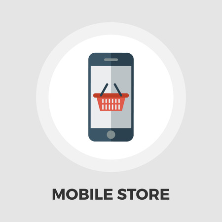 charges: Mobile store icon vector. Flat icon isolated on the white background. Editable EPS file. Vector illustration.