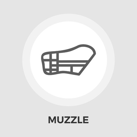 restraining: Muzzle icon vector. Flat icon isolated on the white background. Editable EPS file. Vector illustration.