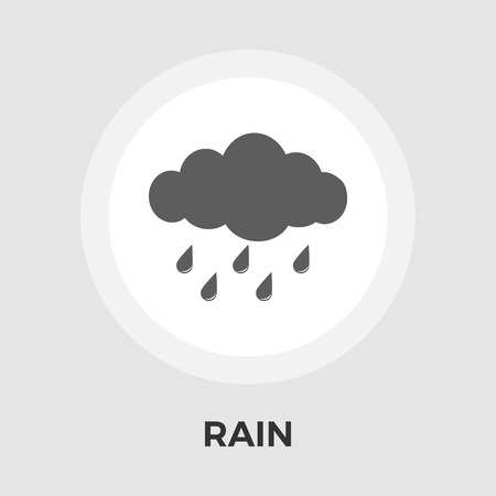 hailstorm: Rain icon vector. Flat icon isolated on the white background. Editable EPS file. Vector illustration.