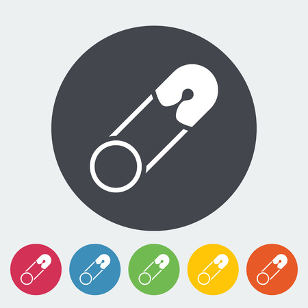 safety pin: Safety pin icon. Flat vector related icon for web and mobile applications. It can be used as - logo, pictogram, icon, infographic element. Vector Illustration. Illustration