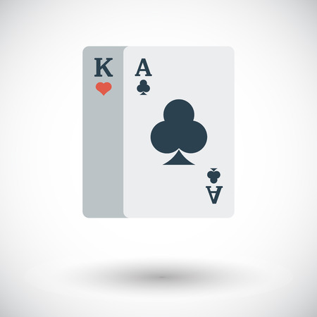 double the chances: Play card. Flat vector icon for mobile and web applications. Vector illustration.