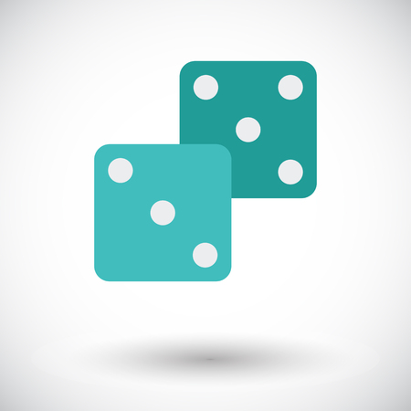 craps: Craps. Flat vector icon for mobile and web applications. Vector illustration. Illustration