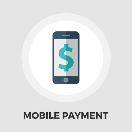 charges: Mobile payment icon vector. Flat icon isolated on the white background. Editable EPS file. Vector illustration.
