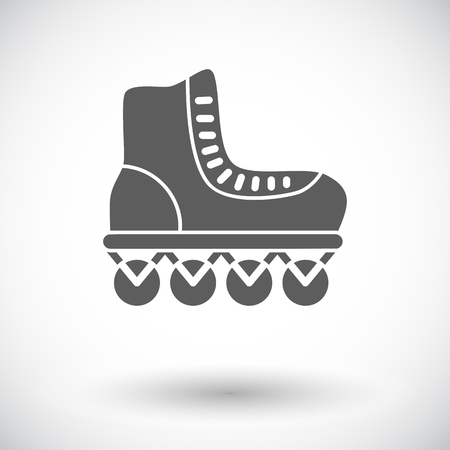 rollerskate: Roller skate icon. Flat vector related icon for web and mobile applications. It can be used as - logo, pictogram, icon, infographic element. Vector Illustration.