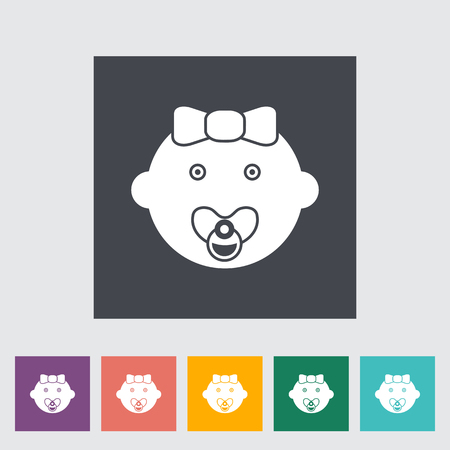 it girl: Baby girl icon. Flat vector related icon for web and mobile applications. It can be used as - logo, pictogram, icon, infographic element. Vector Illustration.