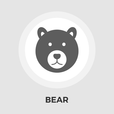 Bear icon vector. Flat icon isolated on the white background. Editable EPS file. Vector illustration.
