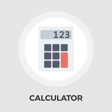 finance department: Calculator icon vector. Flat icon isolated on the white background. Editable EPS file. Vector illustration.