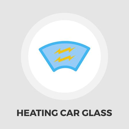 rain window: Heating automotive glass icon vector. Flat icon isolated on the white background. Editable EPS file. Vector illustration. Illustration
