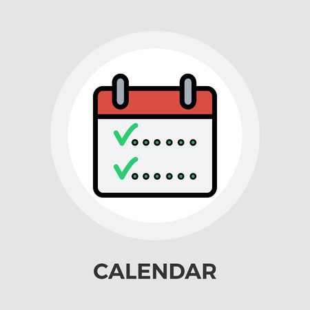 appointment: Calendar whit check icon vector. Flat icon isolated on the white background. Editable EPS file. Vector illustration. Illustration