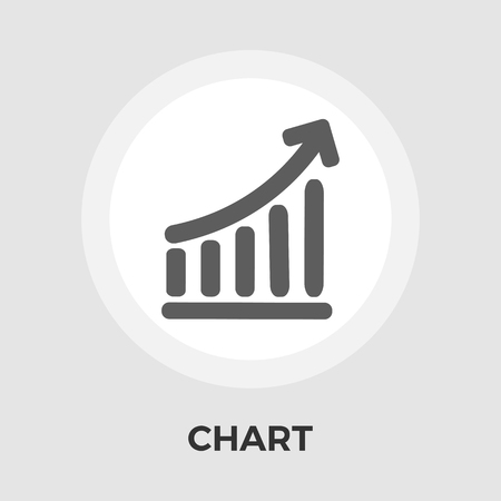 economic forecast: Chart icon vector. Flat icon isolated on the white background. Editable EPS file. Vector illustration. Illustration
