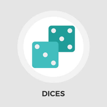 las vegas metropolitan area: Dices icon vector. Flat icon isolated on the white background. Editable EPS file. Vector illustration.