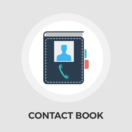 contact book: Contact book icon vector. Flat icon isolated on the white background. Editable EPS file. Vector illustration.