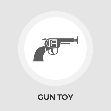 Gun Toy Icon Vector. Flat icon isolated on the white background. Editable EPS file. Vector illustration. Illustration