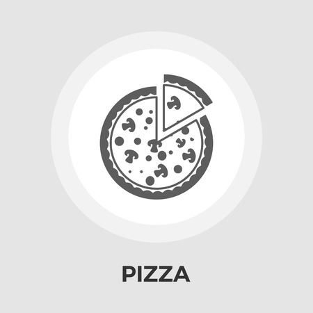 edible mushroom: Pizza icon vector. Flat icon isolated on the white background. Editable EPS file. Vector illustration. Illustration