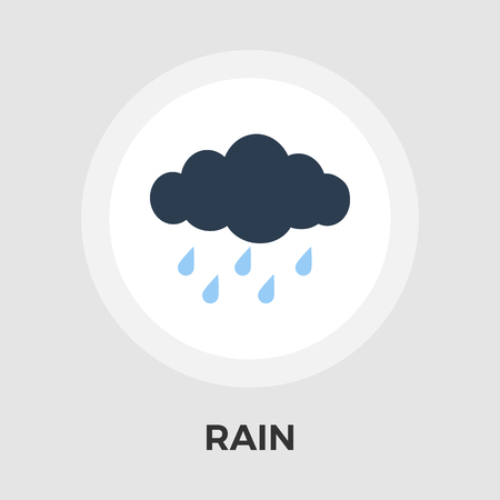 sleet: Rain icon vector. Flat icon isolated on the white background. Editable EPS file. Vector illustration.