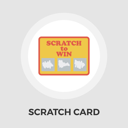 scratch card: Scratch card icon vector. Flat icon isolated on the white background. Editable EPS file. Vector illustration. Illustration