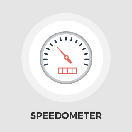 kph: Speedometer icon vector. Flat icon isolated on the white background. Editable EPS file. Vector illustration.