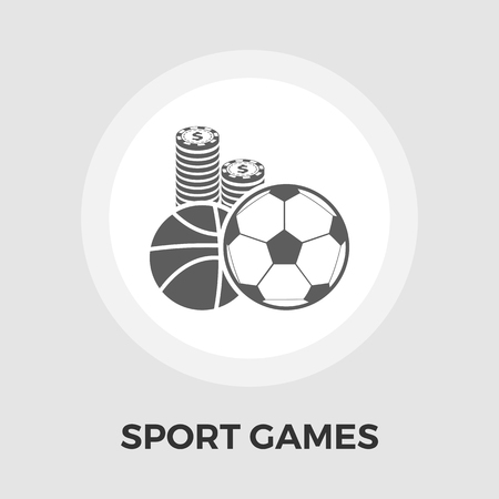bet: Sport games icon vector. Flat icon isolated on the white background. Editable EPS file. Vector illustration.