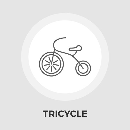 tricycle: Tricycle icon vector. Flat icon isolated on the white background. Editable EPS file. Vector illustration.