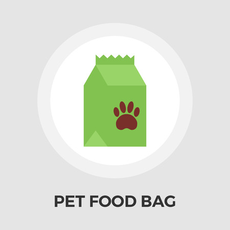 Pet food bag icon vector. Flat icon isolated on the white background.