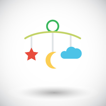 lullaby: Bed carousel icon vector. Flat icon isolated on the white background.  Vector illustration.