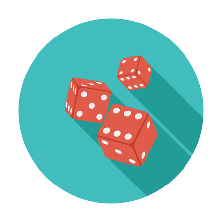 craps: Craps icon. Flat vector related icon whit long shadow for web and mobile applications. It can be used as - pictogram, icon, infographic element. Vector Illustration.